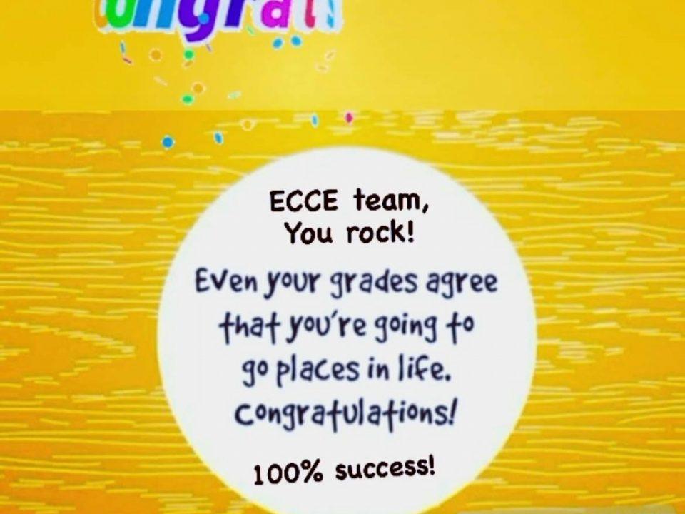 ECCE Exam Results